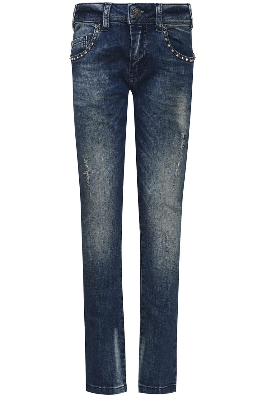 John Galliano Children Синие джинсы с заклепками джинсы john galliano kids джинсы