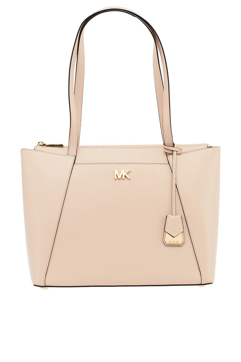 Michael Kors Розовая кожаная сумка Maddie michael michael kors синяя кожаная сумка тоут