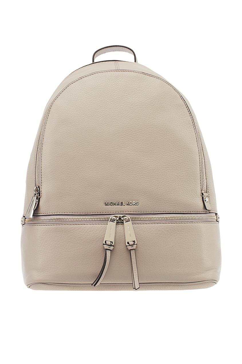 Michael Kors Серый кожаный рюкзак Rhea Zip рюкзак michael michael kors michael michael kors mi048bwaecc9