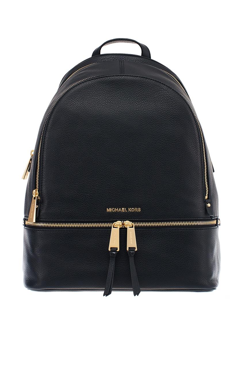 Michael Kors Большой черный рюкзак Rhea Zip рюкзак michael michael kors michael michael kors mi048bwaecc9