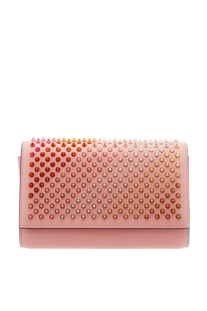 Christian Louboutin Розовый клатч с шипами Paloma Clutch босоножки paloma barcelo розовый