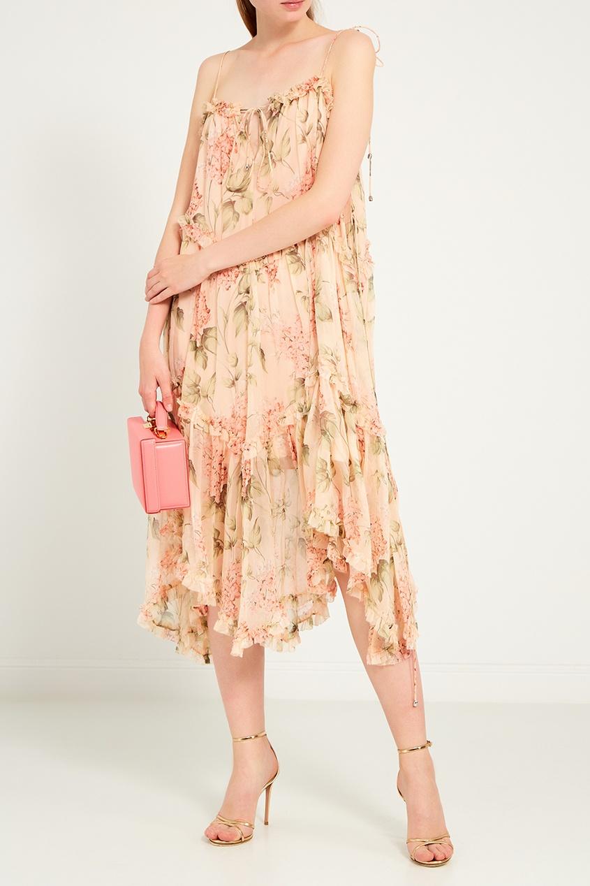 женская сумка mark cross, розовая