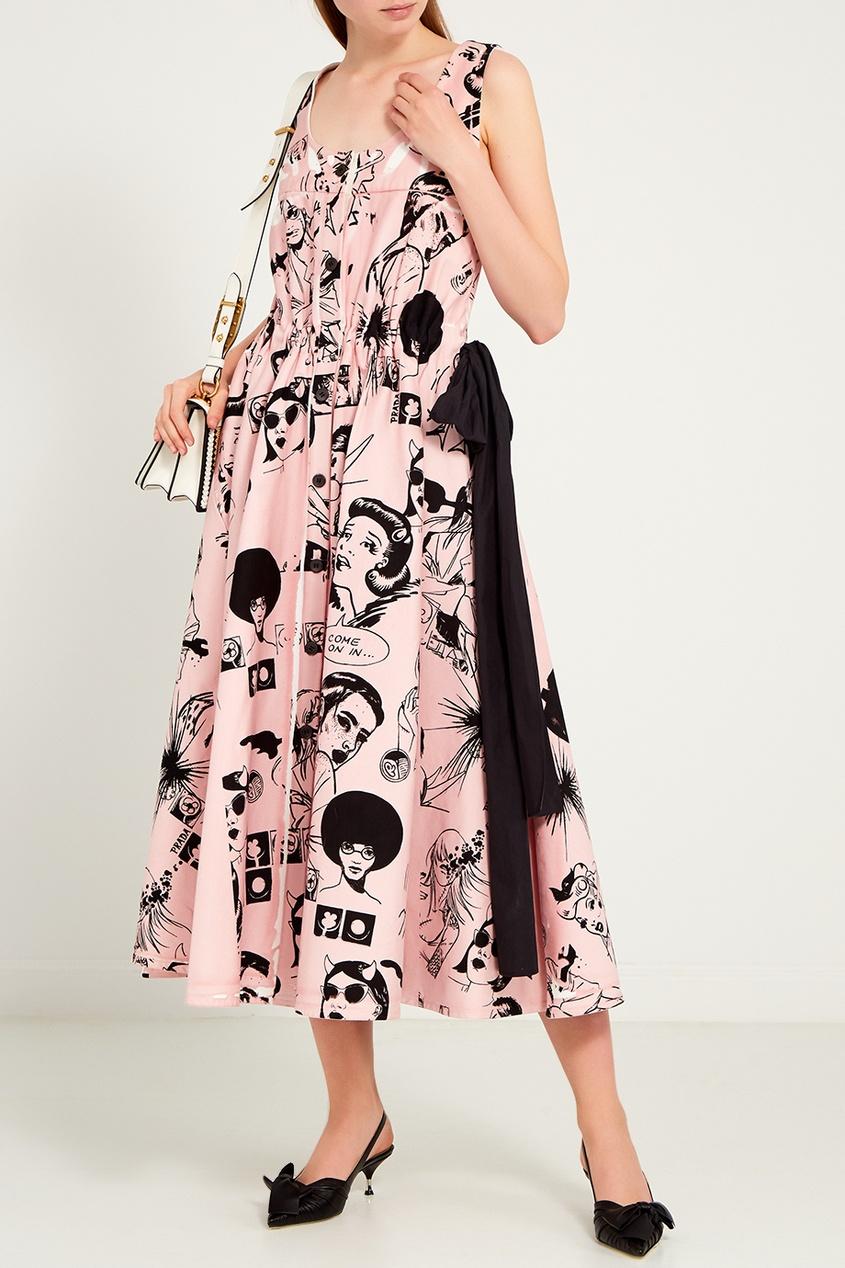 женское платье prada, розовое
