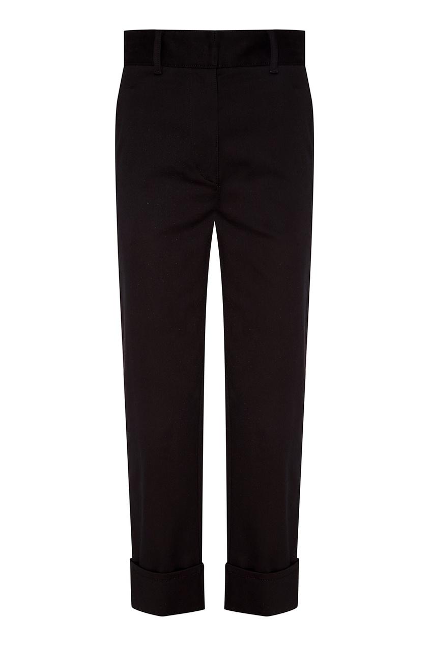 Prada Черные брюки с подворотами