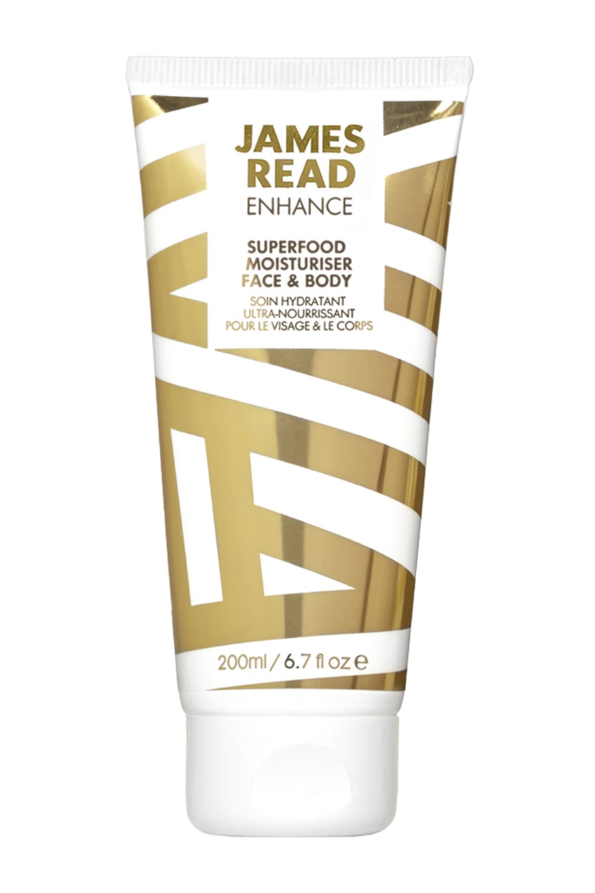 James Read Увлажняющий лосьон для лица и тела SUPERFOOD MOISTURISER FACE & BODY, 200 ml средства для загара james read рукавичка для нанесения загара enhance tanning mitt