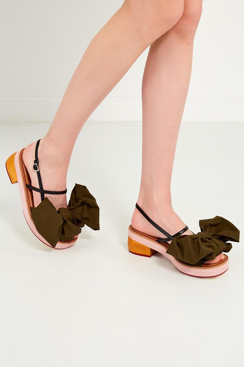 женские сандалии marni, зеленые