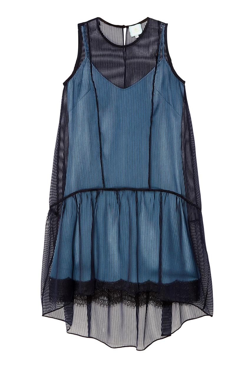 Платье из полупрозрачного шелка