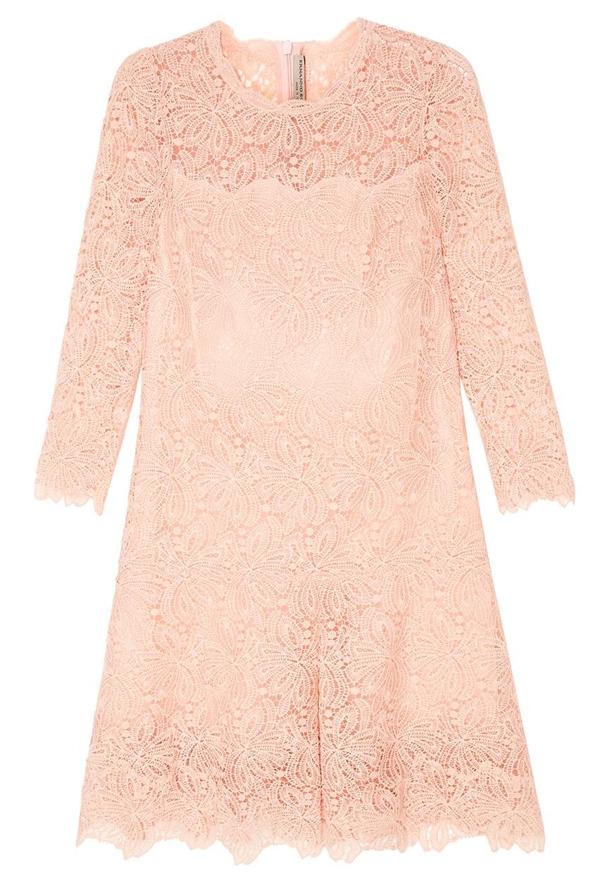 Ermanno Scervino Розовое платье из кружева