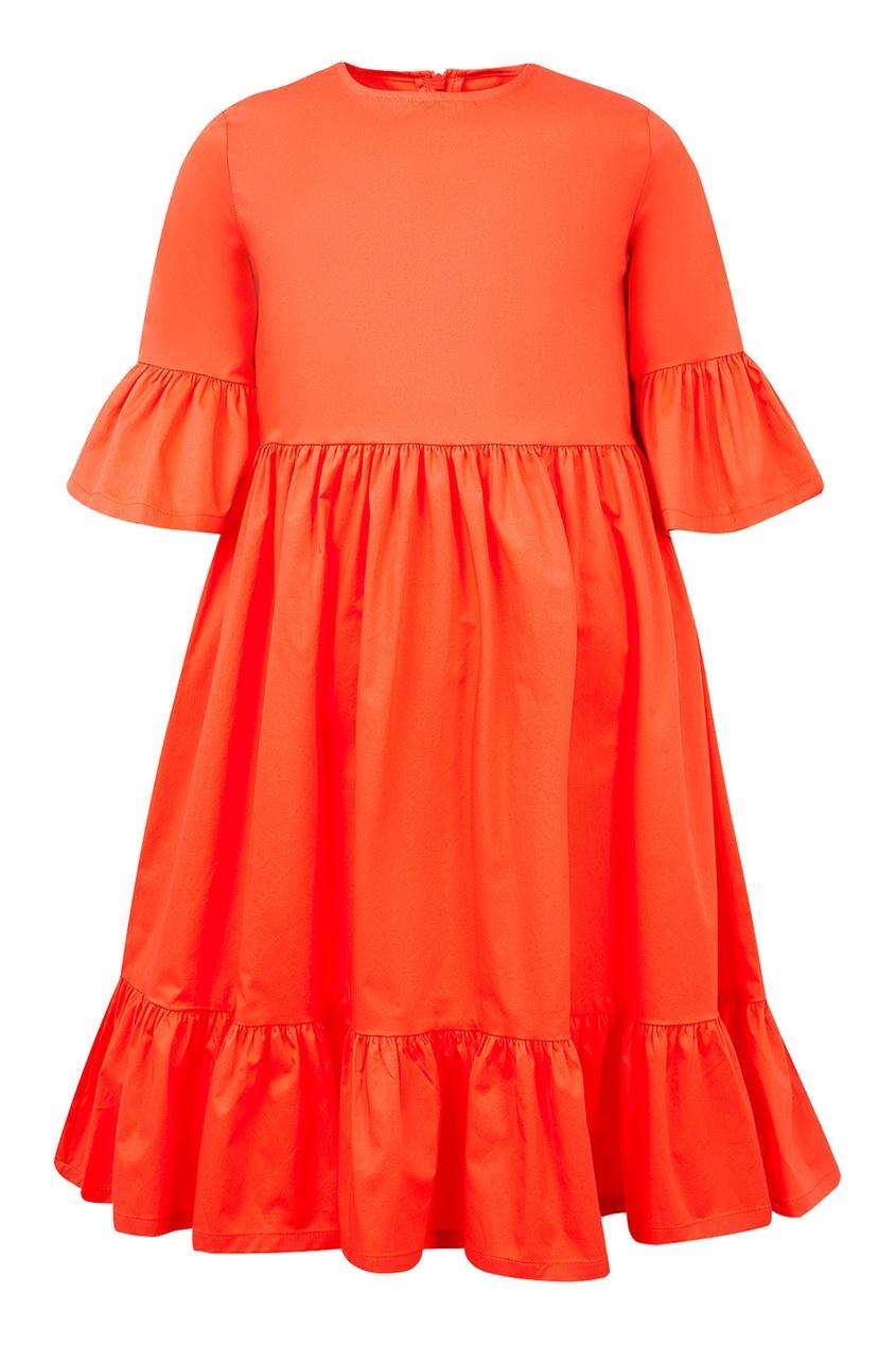 il Gufo Красное платье с воланами платье il gufo il gufo il003egrho59