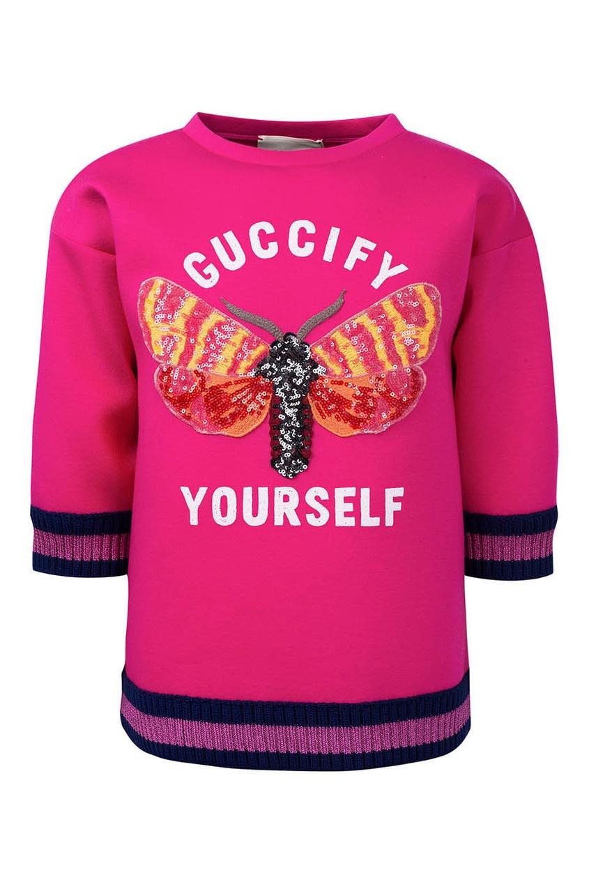 Gucci Kids Джемпер с аппликацией