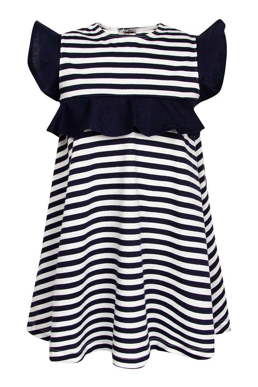 Платье в контрастную полоску