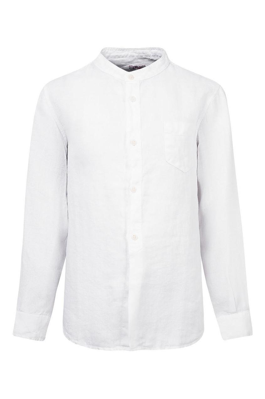 Белая рубашка с накладным карманом