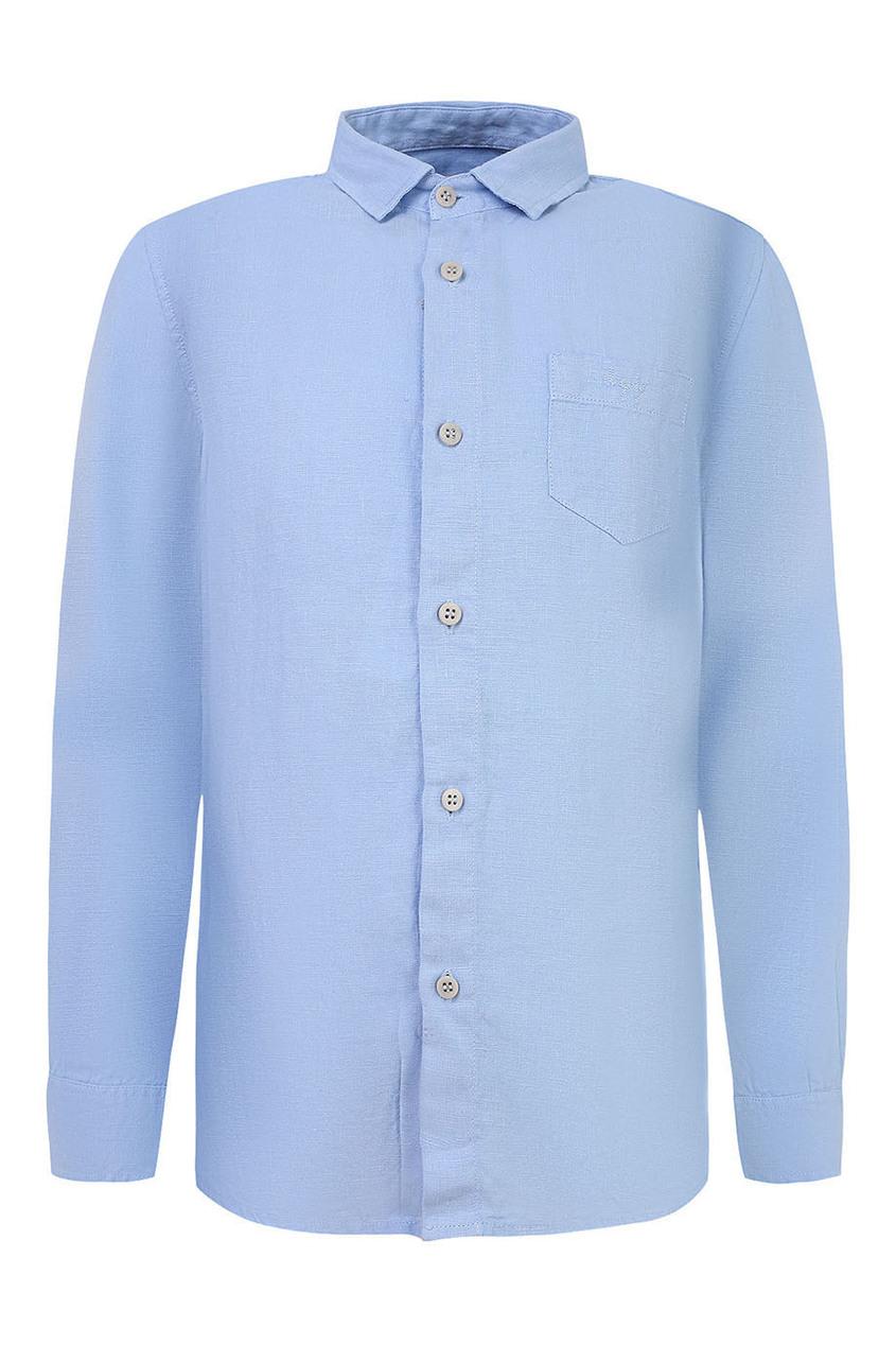 Голубая рубашка изо льна