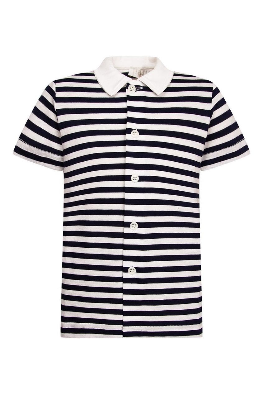 il Gufo Рубашка с короткими рукавами в полоску лонгслив il gufo il gufo il003egvfa68