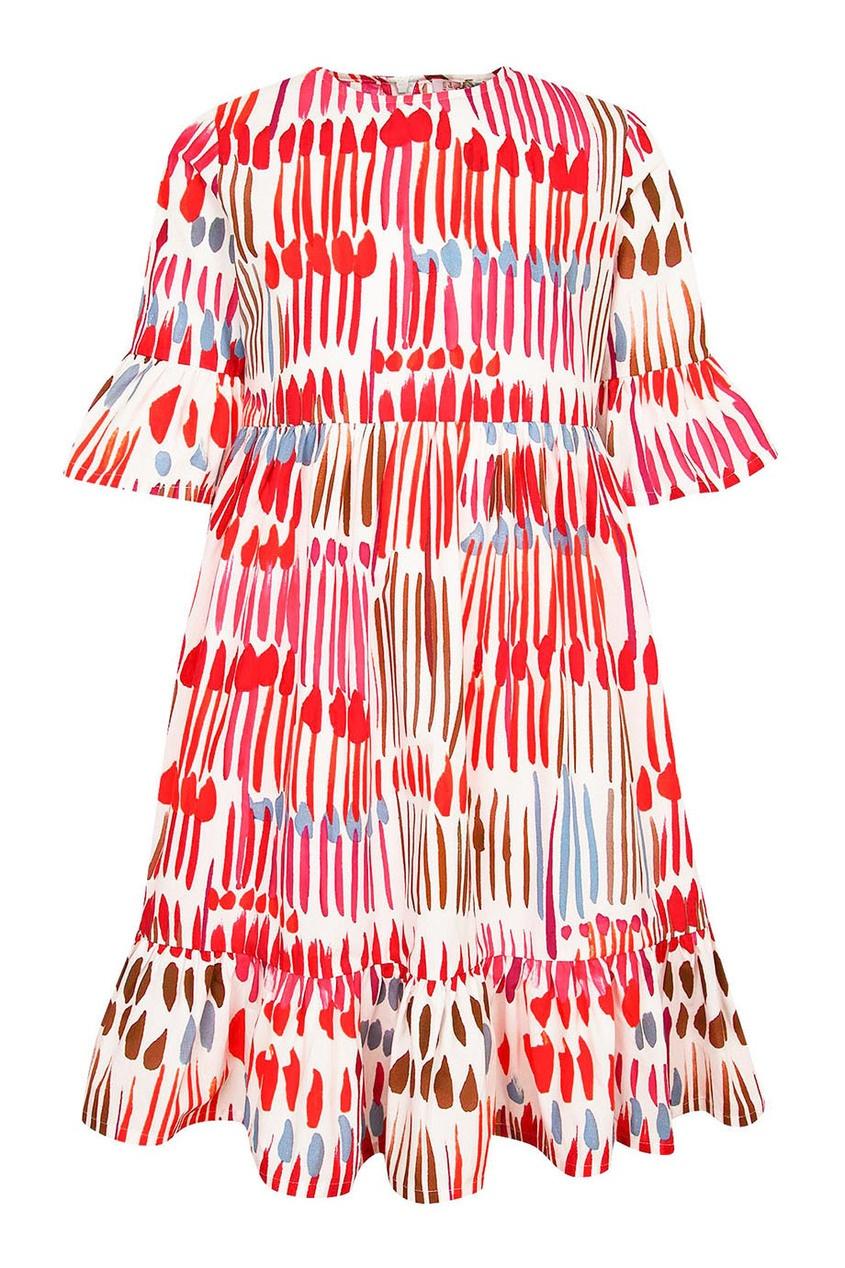 il Gufo Платье с абстрактным принтом платье il gufo il gufo il003egrho59