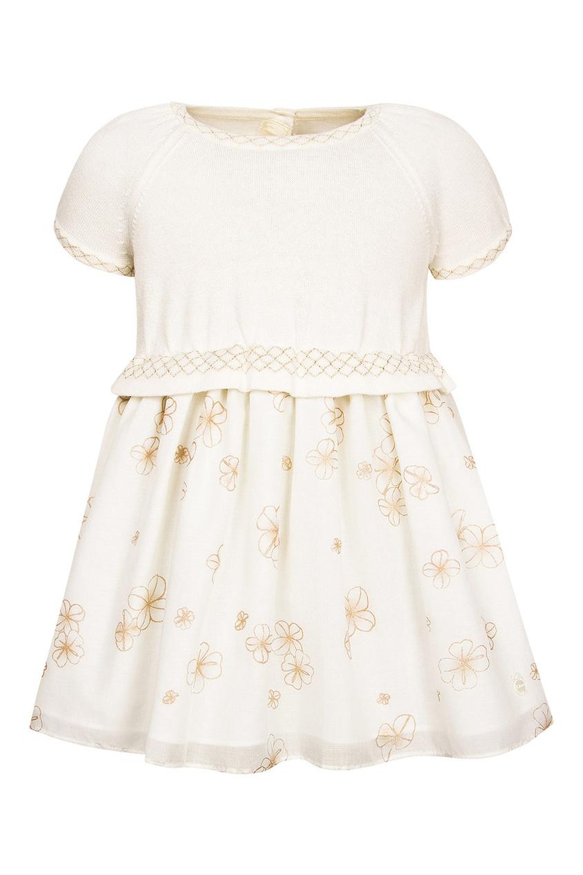 Dior Children Платье с цветочным узором женское сексуальное платье slim элегантная черная белая безрукавка с цветочным узором luck lail l35