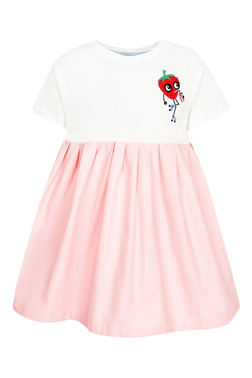 Fendi Children Приталенное платье с аппликацией