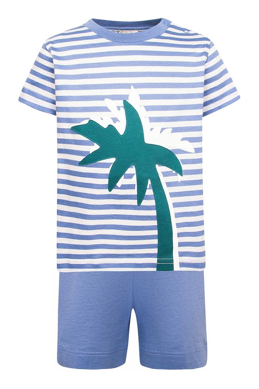 il Gufo Комплект из футболки и шорт с пальмами ресторанчик под пальмами