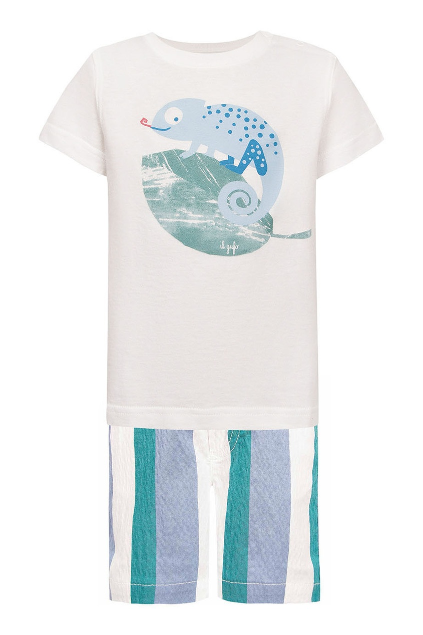 Комплект из футболки и шорт с принтом от Il Gufo