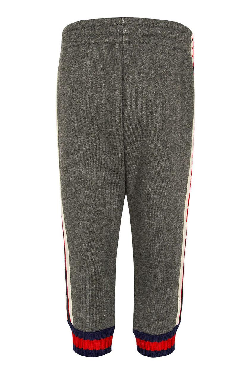 Серые брюки с манжетами