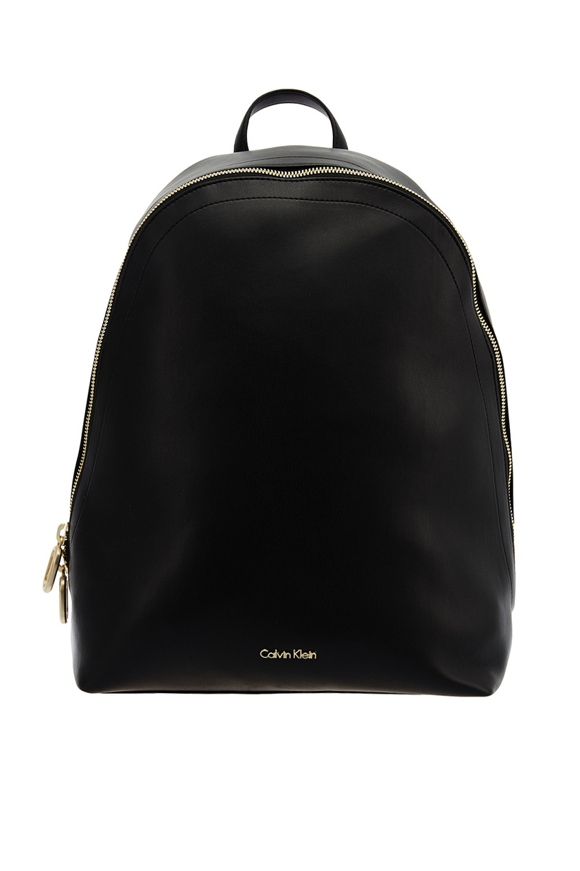 Черный рюкзак с логотипом