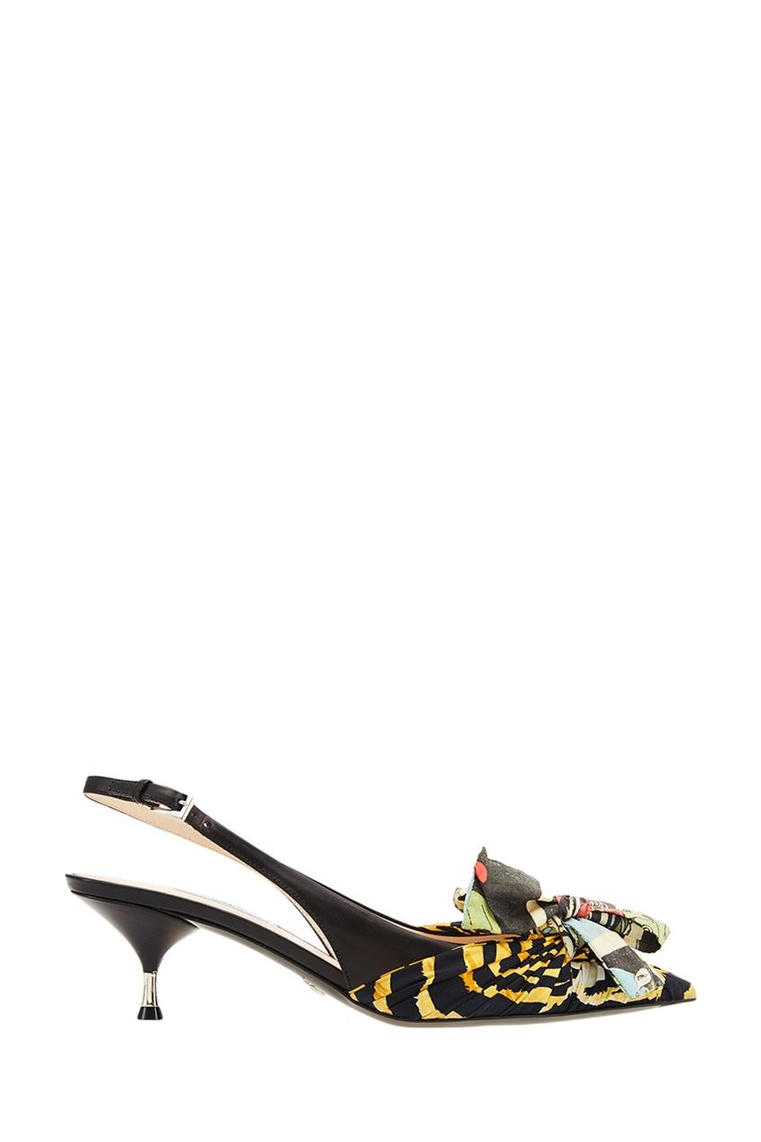 Туфли с цветной отделкой PRADA