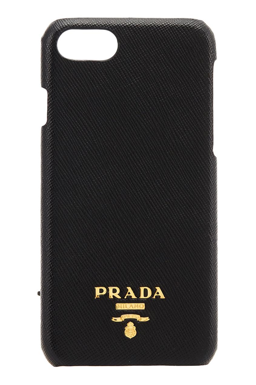 Черный чехол для телефона iPhone 7/8 от Prada