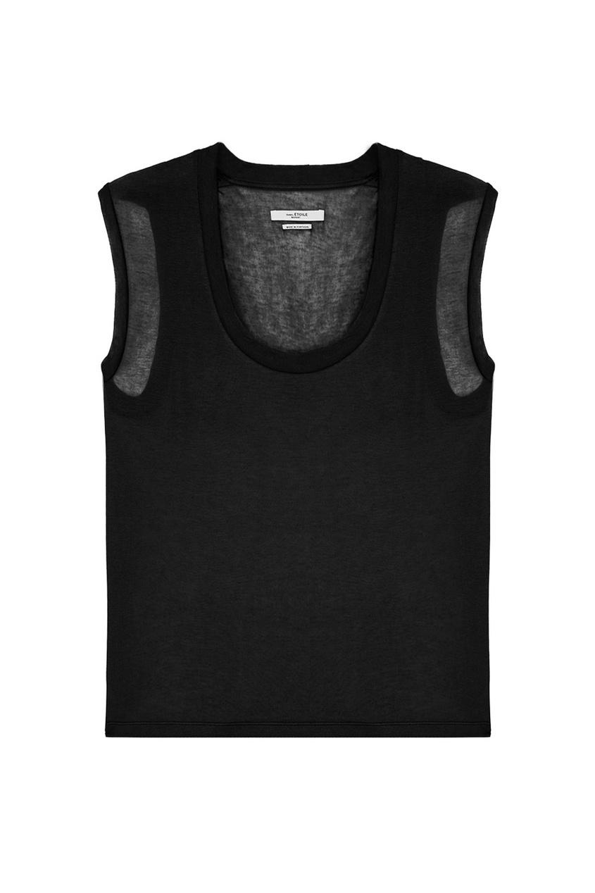 Isabel Marant Etoile Черная футболка с шелком и кашемиром marlies moller specialist сухой шампунь придающий объем с шелком 4г