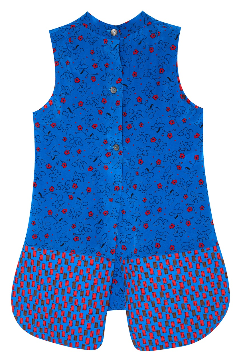 Marni Шелковая блузка с цветами