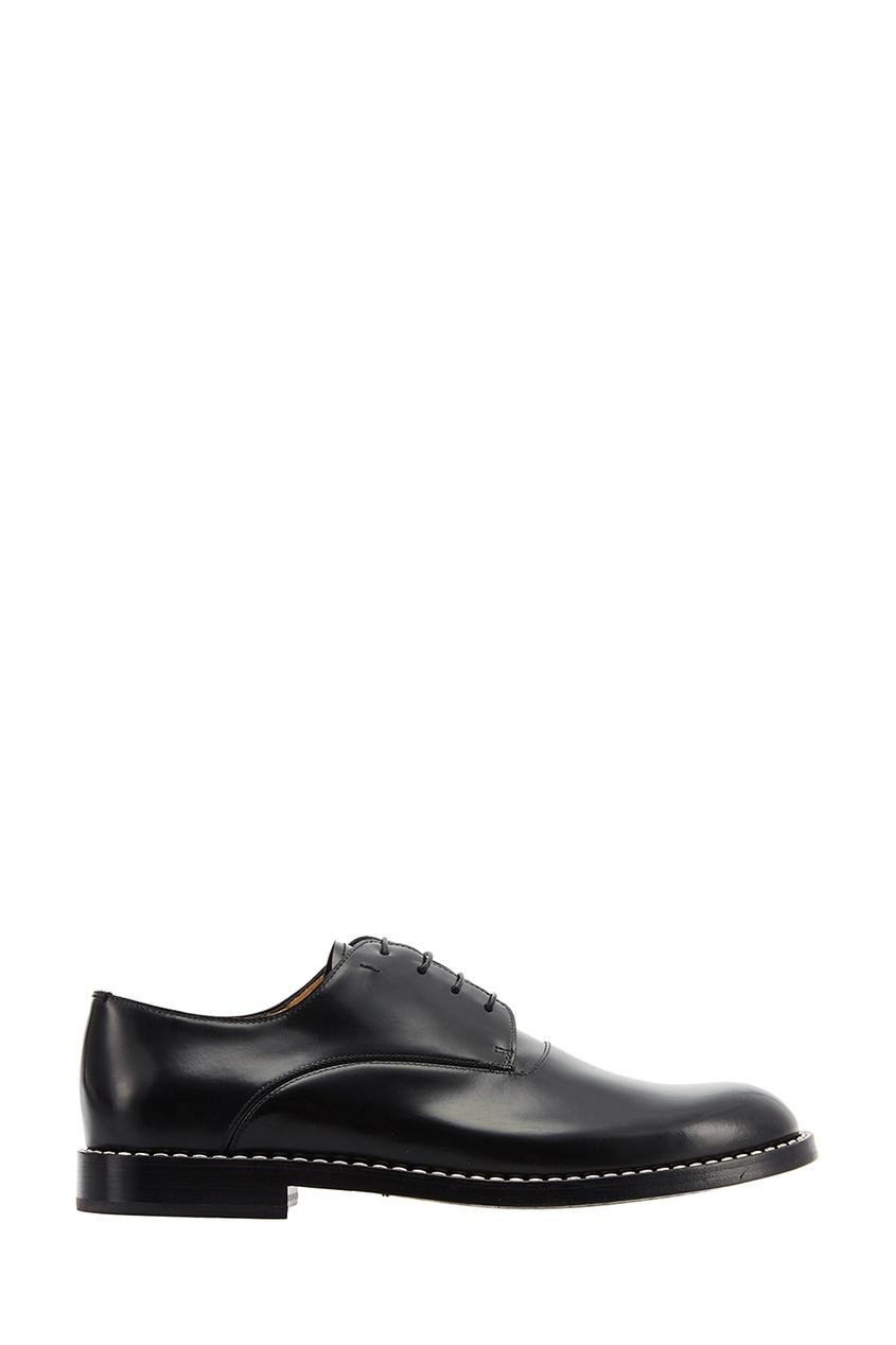 Черные кожаные оксфорды Fendi