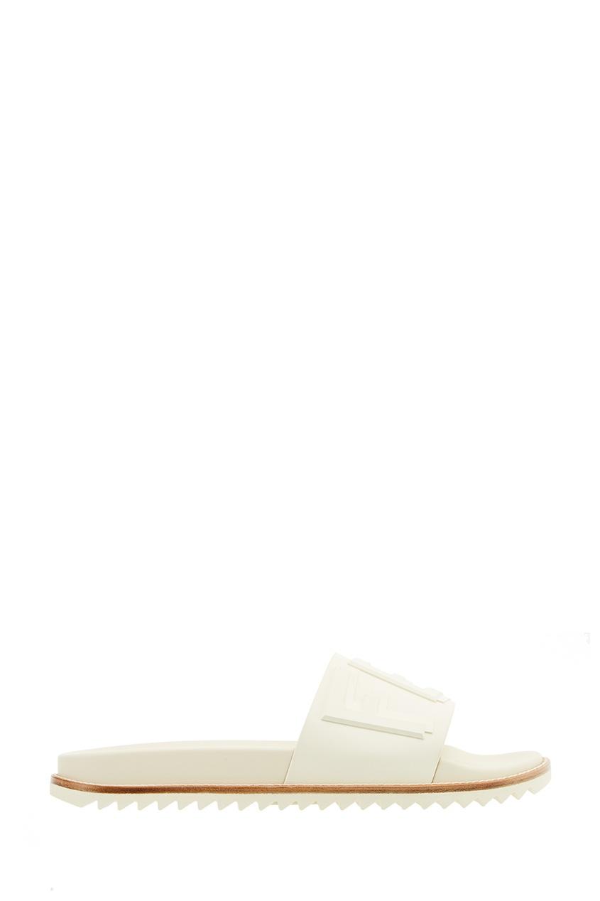 Fendi Белые сандалии с объемным логотипом