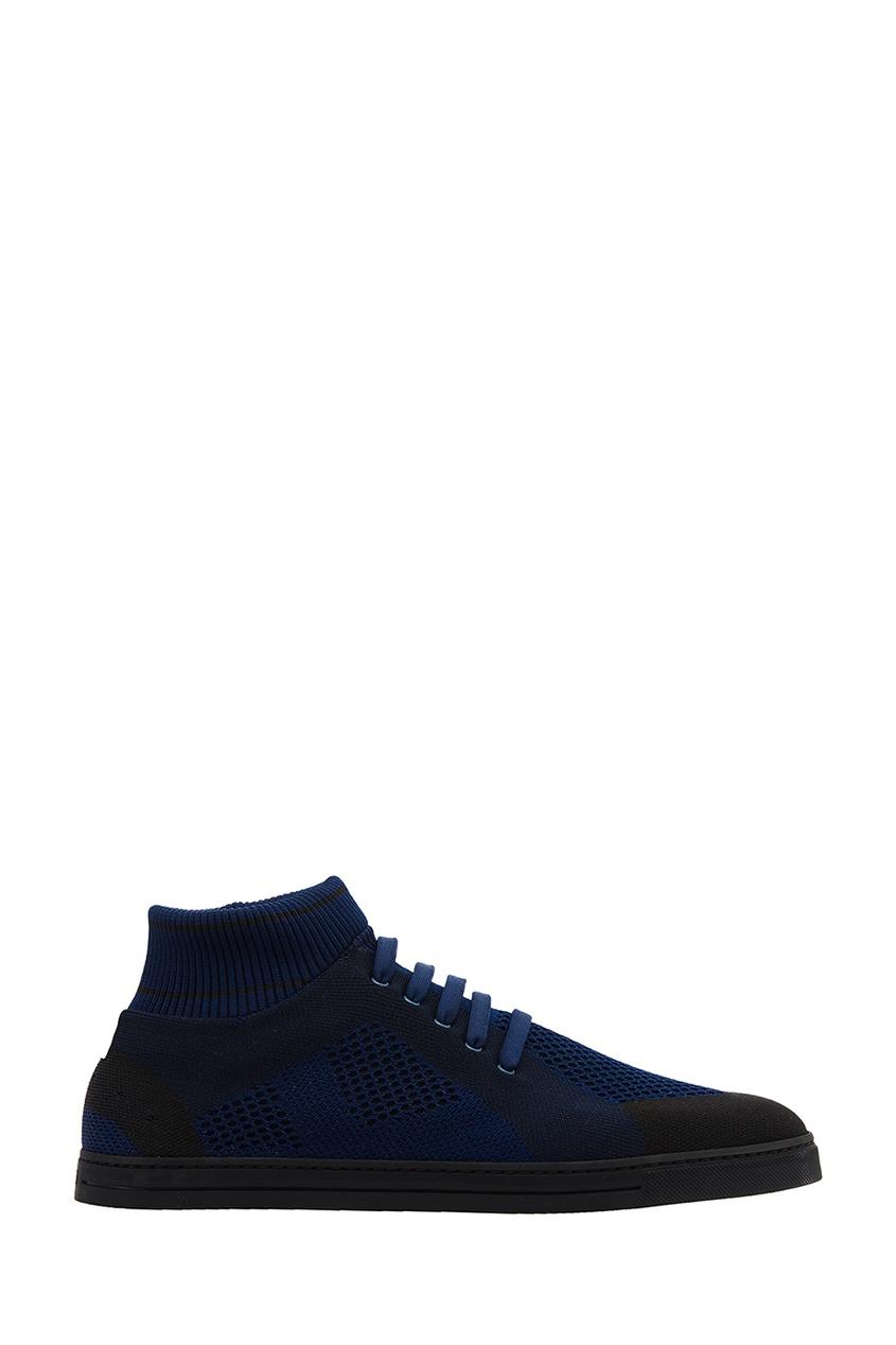 мужские кроссовки fendi, синие