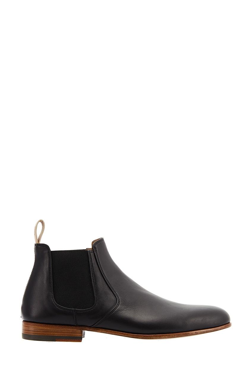 Купить Черные кожаные челси от Fendi черного цвета