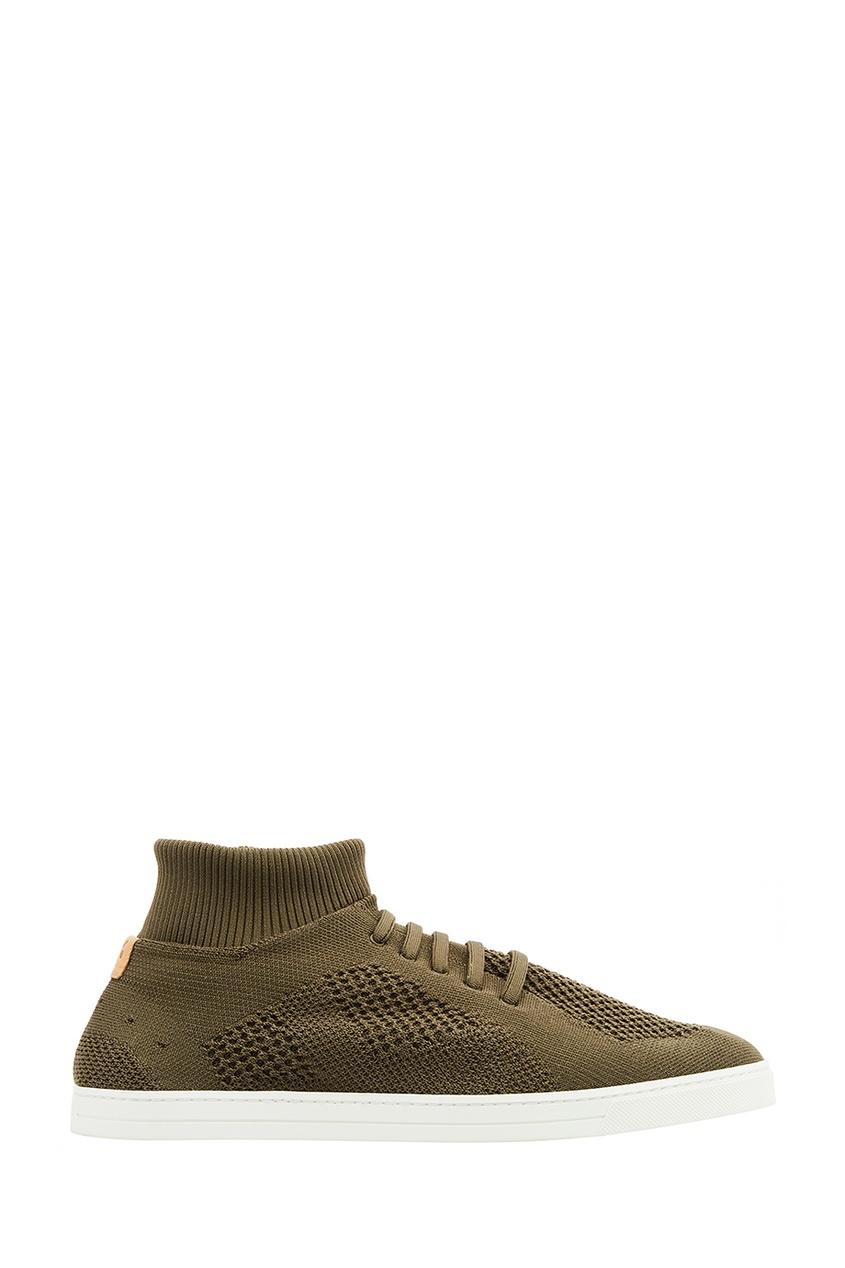 мужские кроссовки fendi, коричневые