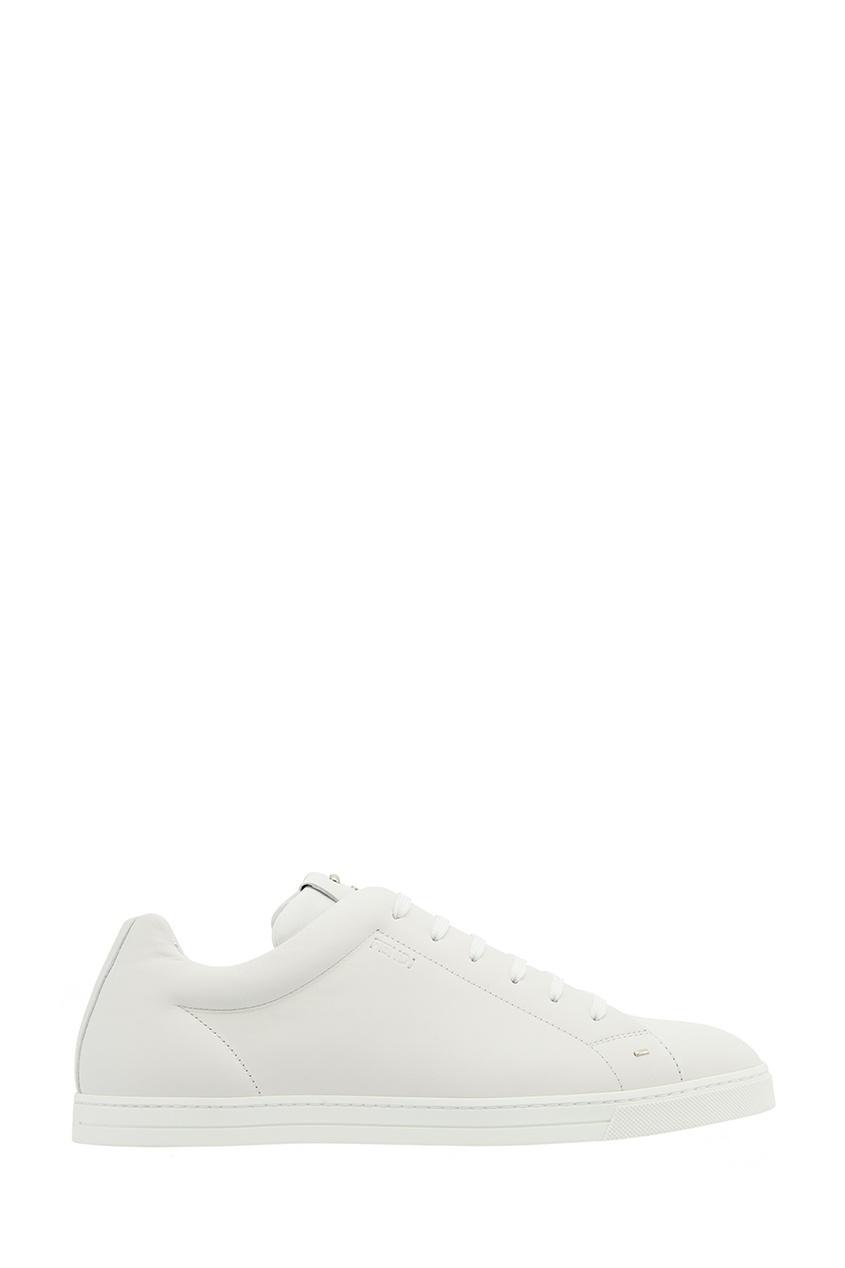 Fendi Белые кожаные кеды