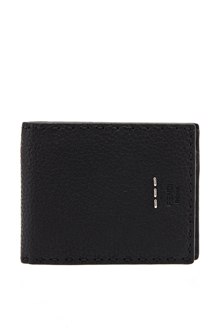 мужской кошелёк fendi, черный