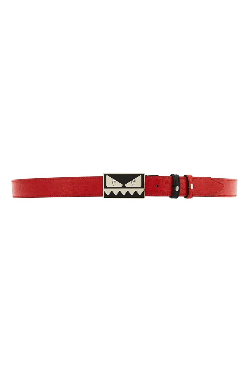 Fendi Красный кожаный ремень fendi кожаный ремень для сумки