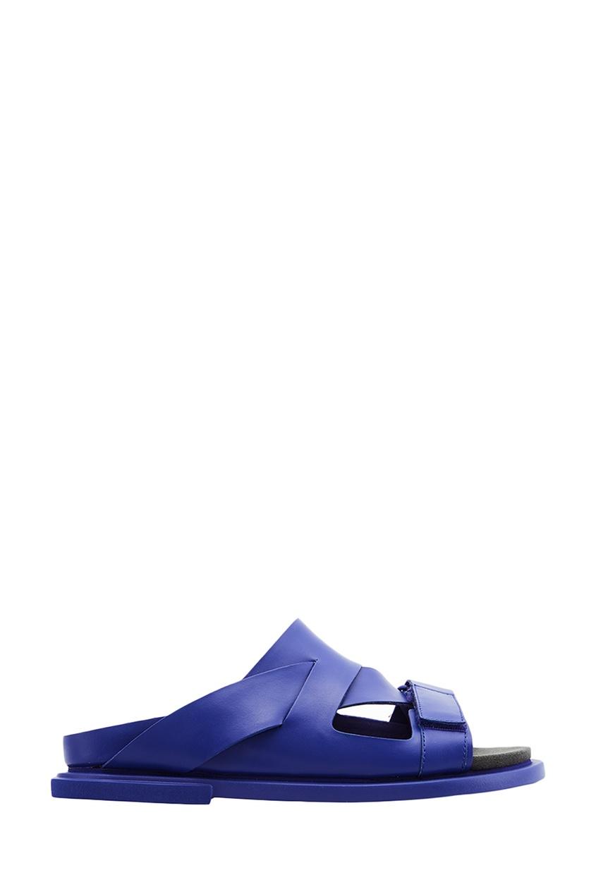 Camper Синие кожаные сандалии