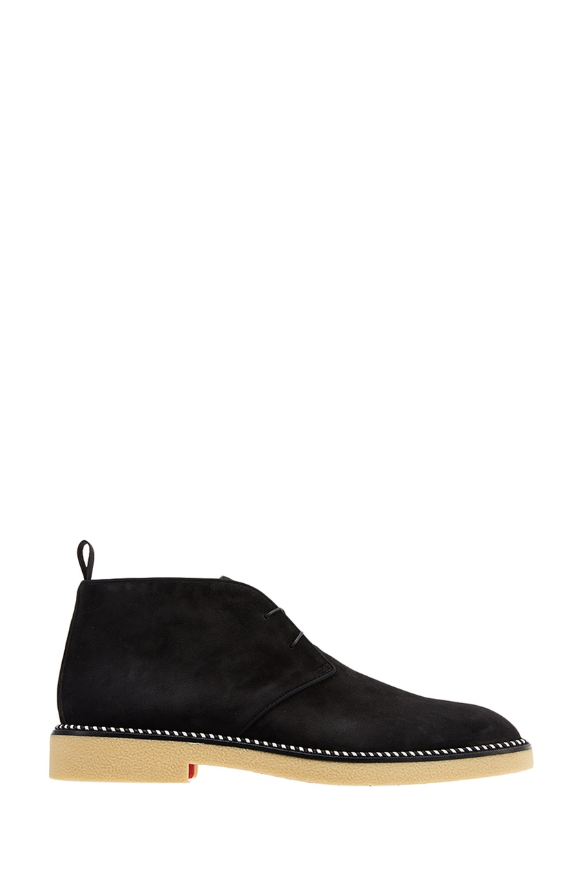 Christian Louboutin Черные замшевые ботинки Bruno Crepe Flat пиджак quelle bruno banani 521634