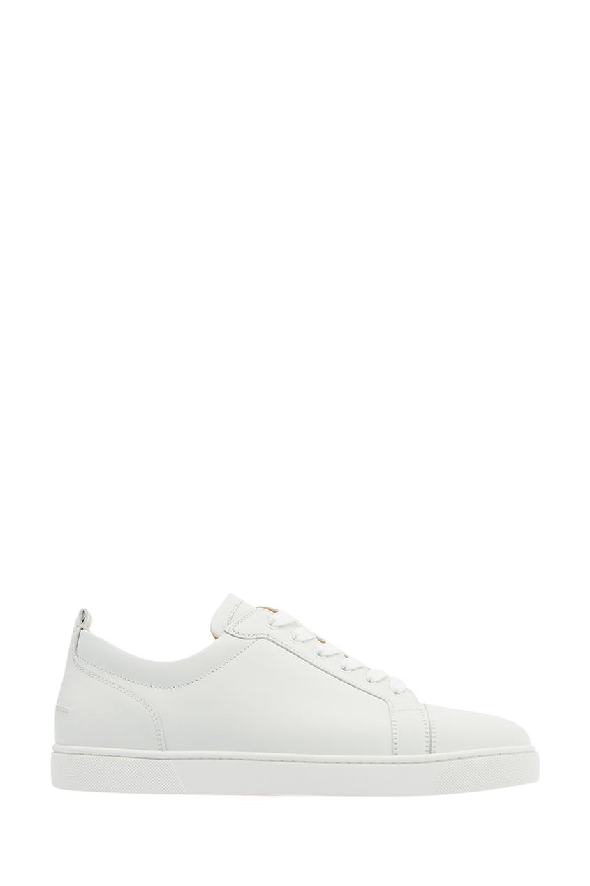 Christian Louboutin Белые кожаные кеды Louis Junior Flat