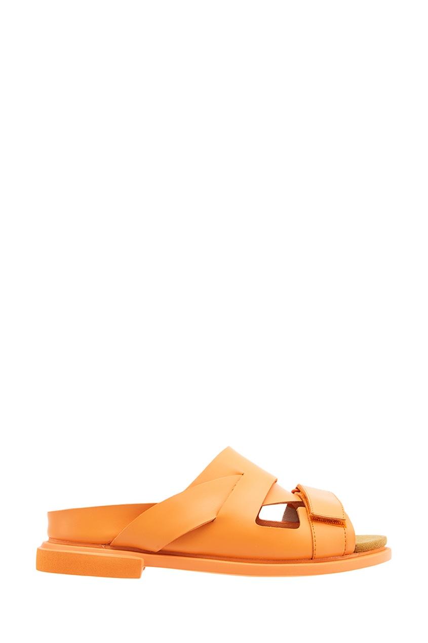 Оранжевые сандалии из кожи