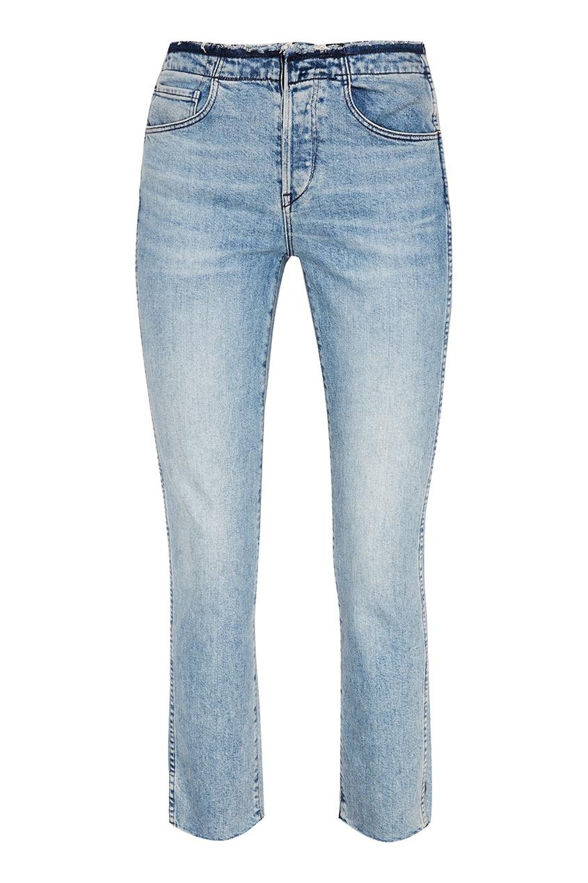 Голубые потертые джинсы, Голубой