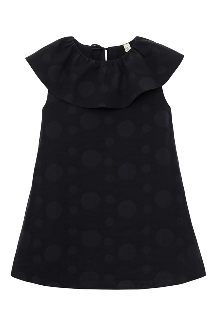 LU KIDS Черное платье из хлопка платье alex lu alex lu mp002xw0jbke