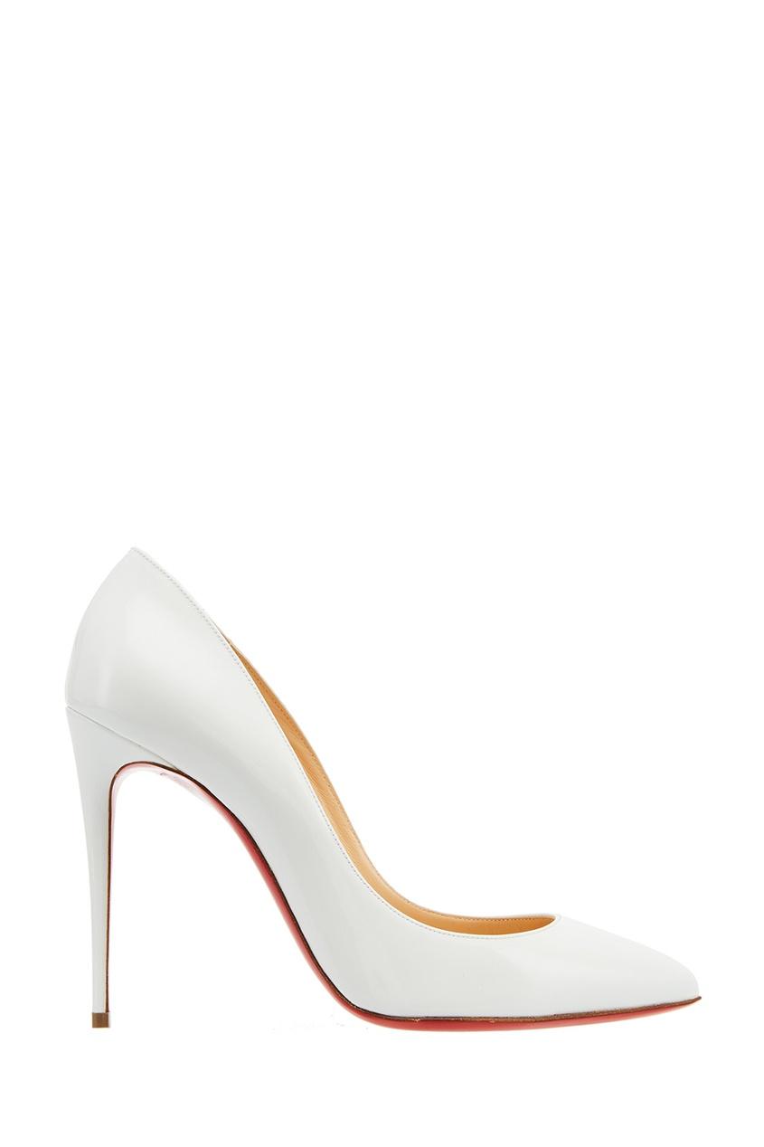 Christian Louboutin Белые лакированные туфли Pigalle Follies 100