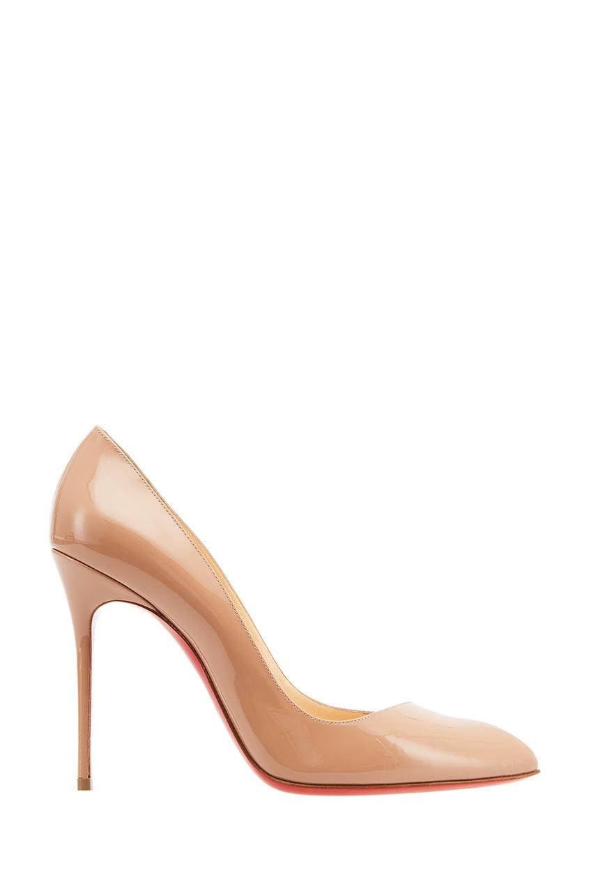Бежевые лакированные туфли Corneille 100