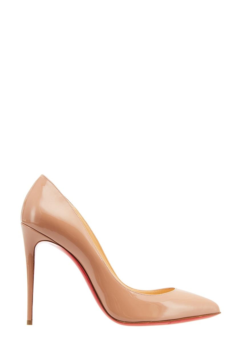 женские туфли christian louboutin, бежевые