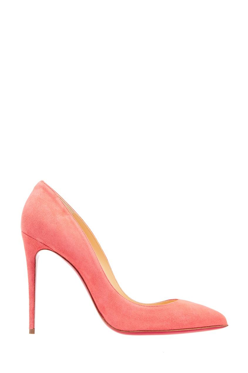 Christian Louboutin Розовые туфли из замши Pigalle Follies 100