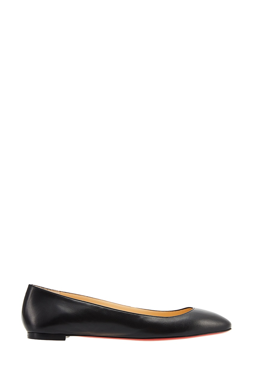 Черные кожаные балетки Eloise Flat