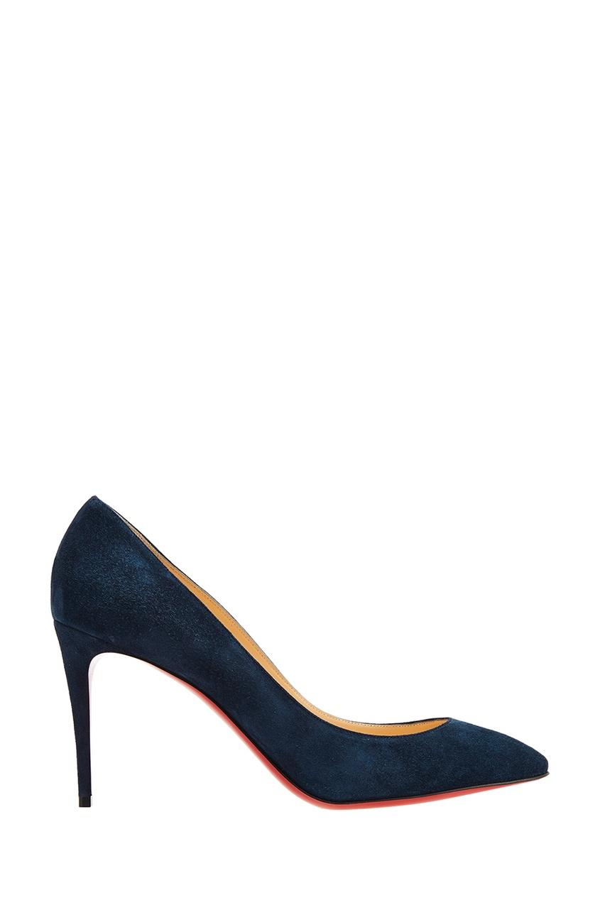 Christian Louboutin Синие замшевые туфли Eloise 85