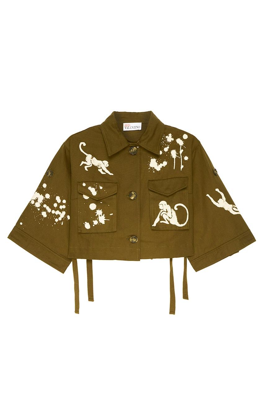 Хлопковая куртка с принтом